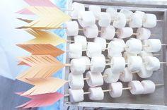 Arrow marshmallow kabobs from a Pow Wow Birthday Party on Kara's Party Ideas | KarasPartyIdeas.com (12)