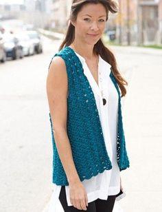 Yarnspirations.com - Caron Drapey Crochet Vest - Patterns | Yarnspirations