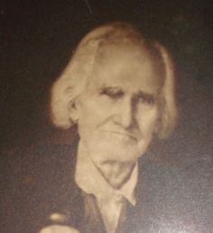 Revolutionary War veteran William Stewart in 1856. Portrait at Robinson-Stewart House Museum.