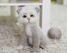 Hey, I found this really awesome Etsy listing at https://www.etsy.com/listing/177140193/needle-felted-cat-toy-soft-sculpture