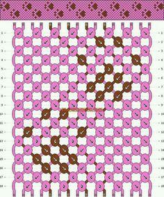 Normal friendship bracelet pattern added by paw print dog cat animal. String Bracelet Patterns, Diy Bracelets Patterns, Embroidery Bracelets, Bracelet Designs, Bracelet Fil, Bracelet Crafts, Floss Bracelets, Paracord Bracelets, Macrame Bracelets