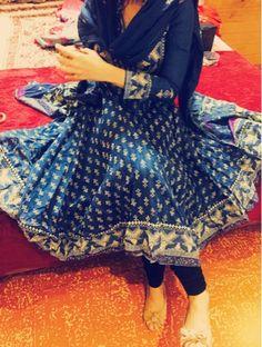 Biba Blue Cotton Asymmetric Suit Set Cotton Anarkali, Anarkali Suits, Indian Style, Indian Wear, Biba Kurti, Blouse Styles, Blouse Designs, Designer Party Wear Dresses, Indian Bollywood Actress