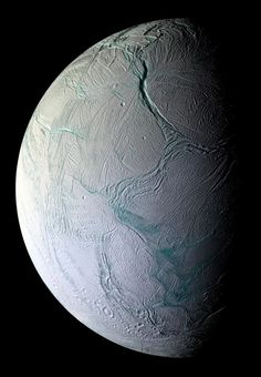 NASA Mulling Life-Hunting Mission to Saturn Moon ENCELADUS. This image of the geyser-spewing Saturn moon Enceladus was taken on Oct. 5, 2008 by NASA's Cassini spacecraft.