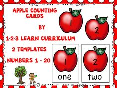 Apple Counting Center - has been added to the 1 - 2 - 3 Learn Curriculum web site - under the Apple Tree link. Please click on the picture to access web site - learn how to become a member and to view free downloads.