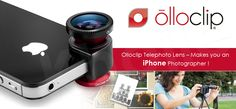 Olloclip releases Telephoto Lens!  Read more at https://www.facebook.com/photo.php?fbid=10151763428146445=a.10150289535436445.359965.109807051444=1