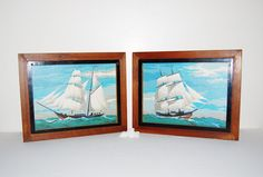 Vintage Paint by Number Ships by CheekyVintageCloset on Etsy, $54.00