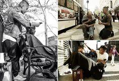Cabeleireiro dá um novo visual aos moradores de rua