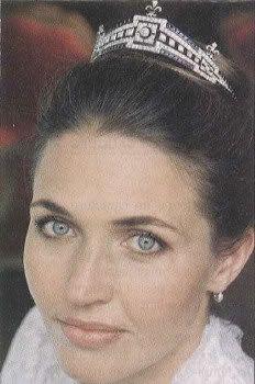 Princess Adelaide in the last Countess of Paris' Sapphire and Diamond tiara.