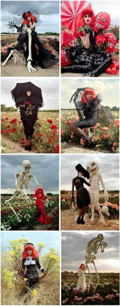 Tim Burton's high fashion photo spread