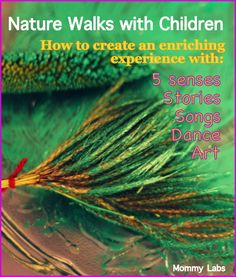 nature walk 5 senses with kids art natural paint brushes