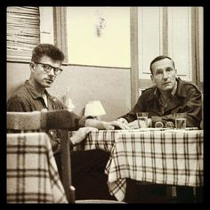 Peter Orlovsky and William Burroughs.