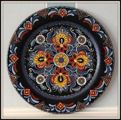 14 Decorative wooden plateHallingdal Norwegian