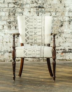 Louis Mudcloth Chair. Upholstered ...