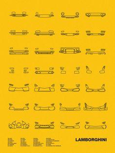 Auto Icon Screen Print Series: Lamborghini