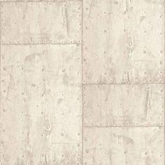 Dutch Wallcoverings Exposed metaal beige PE04039 - Metaal behang - Industrieel behang - industrieel wonen - De Behangwinkelier