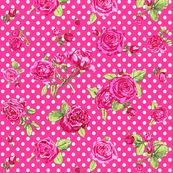 pink roses_with_dots by katarina, click to purchase fabric