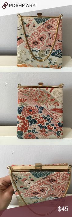 Japanese clutch Vintage Gump's of San Francisco Clutch Purse. Length-6inches width-5.2 inches Bags Clutches & Wristlets