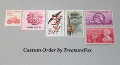 Reserved Custom Order for Yesenia. Unused Vintage US Postage Stamps for mailing wedding invitations by TreasureFox on Etsy
