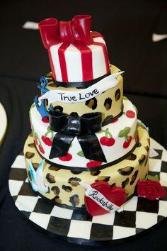 Burlesque Cake Cake Ideas Pinterest Burlesque Cake Cake And - Rockabilly birthday cake