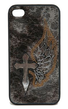 Blazin Roxx® Brown & Silver with Winged Cross iPhone 4 Case | Cavender's