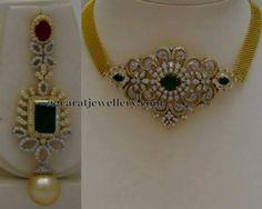 Jewellery Designs: 2 in 1 Choker and Earrings Urban Jewelry, Jade Jewelry, Modern Jewelry, Silver Jewelry, Gold Jewellery, Silver Ring, Jewelry Sets, Indian Wedding Jewelry, Indian Jewelry