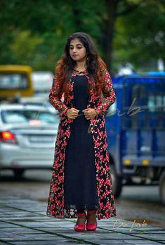Different types of jacket salwar suits - Kurti Blouse Churidar Designs, Kurta Designs Women, Kurti Neck Designs, Dress Neck Designs, Designs For Dresses, Designer Party Wear Dresses, Kurti Designs Party Wear, Indian Designer Outfits, Stylish Dresses