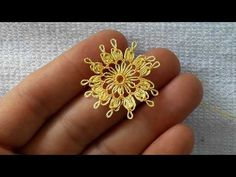 KOLAY ÇİÇEK MODELİ İĞNE OYASI ÇOK AMAÇLI - YouTube Irish Crochet, Tatting, Knots, Needlework, Embroidery, Lace, Floral, Flowers, Jewelry