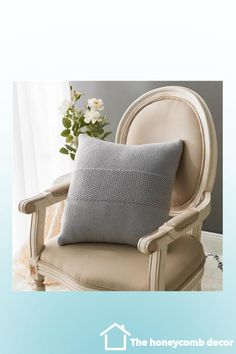 Rose is a crochet knitted cushion cover. It looks very cute and stylish. You can choose from different colors and the size is 17x17″. It is made of 100% cotton and can be machine washed. #homedecor #roomdecor #homeaccents #decor #decoration #home #thehoneycombdecor #cushion #diy