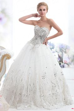 Fairy-tale Princess Sweetheart Basque Waist Sweep Brush Train Tulle Wedding Dress CWLF13014 $665.07 wedding dress, wedding dress, wedding dress, wedding dress, wedding dress