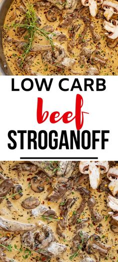 Anytime I can satisfy my cravings for comfort food in a way that doesn't involve a lot of carbs I am ecstatic. Low Carb Beef Stroganoff is one of my go-to dinners. I prepare the ingredients as part of my weekly meal prep, which makes this keto dish an easy weeknight meal. #kickingcarbs #lowcarbrecipe #ketodinner #keto #ketobeefstroganoff