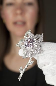 The Williamson Diamond Brooch A wedding gift to the Queen Elizabeth II from Canadian geologist Dr John Williamson, who unearthed the 23.6 carat pink centre gem.