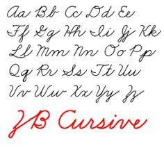 Modern Cursive Chart | Cursive handwriting, Cursive and Font family