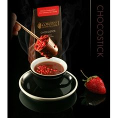 Chocostick Cortez z truskawkami  #chocostick #chocolate #cortez #straberries