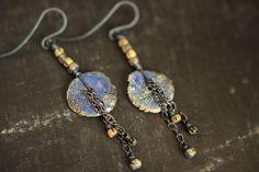 Boho Artisan Clay Disc Earrings by Sparrowtaledesign on Etsy Handmade - Jewelry - Jewellery - Earrings