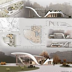 Awesome project by ⤵ Tag to share your works Concept Board Architecture, Architecture Presentation Board, Pavilion Architecture, Futuristic Architecture, Architecture Diagrams, Architectural Presentation, Architectural Models, Architectural Drawings, Rendering Architecture