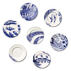 Robert Dawson blue and white ceramics - garden - Aesthetic Sabotage Blue Willow China, Blue And White China, Blue China, Love Blue, Blue And White Dinnerware, Blue Dinnerware, Willow Pattern, Ceramic Plates, Wall Plates