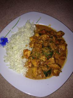 Chicken curry and cauliflower rice Step 2