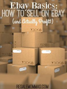 Have you ever wondered how to sell on Ebay but aren't sure how to get started! My Ebay Basics post can help! These Ebay Tips will have you earning in no time!