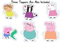 Peppa Pig Muddy Puddles Themed Cupcake Wrappers and Toppers Pig Cupcakes, Themed Cupcakes, Pig Birthday Cakes, Birthday Party Themes, Pig Party, Cupcake Party, Peppa Pig Muddy Puddles, Peppa E George, Bottle Label