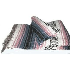 Authentic Large Thick Mexican Falsa Blanket Pink $17.99