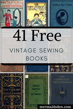Sewing Techniques Couture 40 Free Sewing Books: Vintage and Antique Sewing References - In this post, I'll go over how to find free vintage sewing books. There are a lot of vintage and antique books that are in the public domain now. Easy Sewing Projects, Sewing Projects For Beginners, Sewing Hacks, Sewing Tutorials, Sewing Tips, Sewing Lessons, Techniques Couture, Sewing Techniques, American Crafts