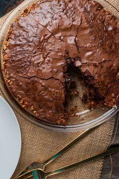 Pretzel Crusted Brownie Pie