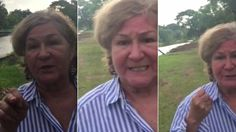 An older woman confronts a younger woman walking her dog, and the conversation quickly escalates into violence