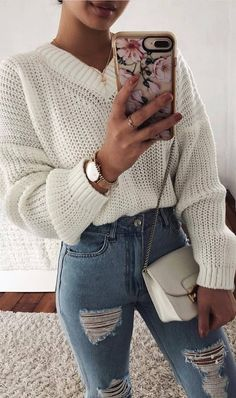 30 Free Crochet Sweater Patterns New 2019 - Page 14 of 30 - womenselegance. com Source by look_your_absolute_best Outfits everyday Winter Fashion Outfits, Boho Outfits, Spring Outfits, Trendy Outfits, Cute Outfits, Cute Sweater Outfits, Fashion Pics, Outfit Winter, Winter Wear