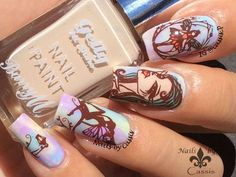 Enchanting Elves Mani Using Messy Mansion Plate - Nails by Cassis #nails #nailart #nailstamping #messymansion