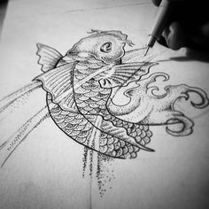 Beginning of a Japanese tattoo design.. #dotwork #dotworktattoo #dotworkdrawing #doodles #dotting #blackart #blackwork #thefinelab #street_art_pic #iblackwork #japanesetattoo #koi #fish #tattoodrawing #tattoodesign #tattoo #drawing #dutch #art #creativpaper #creativity #design #koitattoo #tattoos by jcrmrs