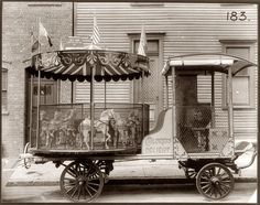 Children's Delight Traveling Carousel Ride with piano or calliope (c.1910) George B. Marx Wagon Co., Brooklyn, New York