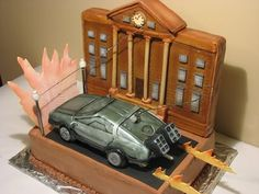 Back to the Future cake!   *Good for 80s flash back party or grooms' cake
