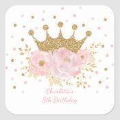 Pegatina Redonda Princesa Rosa de Oro Floral Nacimiento Niña | Zazzle.com 1st Birthday Party Favors, Pink Party Favors, 1st Birthday Girls, Princess Birthday, Tarjetas Baby Shower Niña, Decoracion Baby Shower Niña, Birthday Sheet Cakes, Royal Baby Showers, Girl Posters