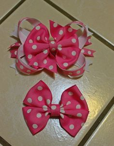 Collection of Beautiful Pink Boutique Hairbows
